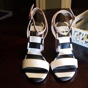 Beautiful Mix No.6 NWOT Sandles with thick Heel